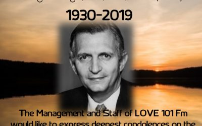 LOVE 101 The Family Station wishes to extend condolences to family and friends of The former Prime Minister Edwards Phillip George Seaga.