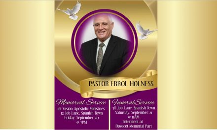 Passing of Pastor Errol Holness.