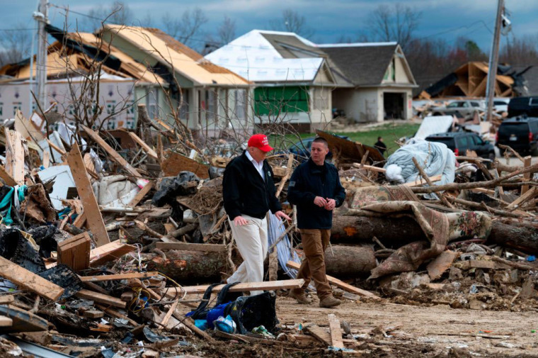Youth pastor's 4-year-old daughter killed in Tennessee tornadoes; Trump visits devastated areas